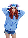 kigurumi Pyjamas Collant/Combinaison Fete / Celebration Pyjamas Animale Halloween Bleu Mosaique Polaire Kigurumi Pour UnisexeHalloween /