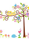 stickers muraux stickers muraux, hibou de bande dessinee de style arbres chance muraux PVC autocollants