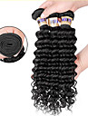 """3 pieces / lot 8 """"-30"""" 6a extensions bresiliennes de cheveux de vague profonde vierges cheveux 100% vierge non traitee tisse"""