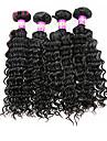 Tissages de cheveux humains Cheveux Malaisiens Ondulation profonde 4 Pieces tissages de cheveux