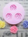 Fleurs Trois trous moule DIY fleur de silicone de fondant Moules sucre Craft Outils de resine moules moules pour gateaux