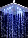 Contemporain Douche pluie Chrome Fonctionnalite for  LED Effet pluie Ecologique , Pomme de douche