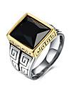 Inel Piatră Preţioasă Teak Oțel titan Hârtie Reciclabilă La modă Negru Bijuterii Zilnic Casual 1 buc