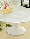couleur blanche vaisselle en ceramique gateau de plateau pan gateau debout conception petit gateau de dessert plat de fruits de plateau de