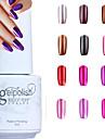 yemannvyou®metallic spegeleffekt suga av uv gel nagellack no.13-24 (5 ml, blandade färger)