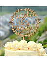 Wood Cake Topper Custom with Couple\'s Names Wedding Cake Topper in Natural Wood Color 6 Inches Wide