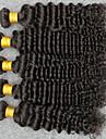 Tissages de cheveux humains Cheveux Indiens Ondulation profonde 12 mois 5 Pieces tissages de cheveux
