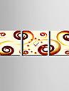 Moderne/Contemporain Autres Horloge murale,Carre Toile 25 x 25cm(10inchx10inch)x3pcs Interieur Horloge