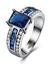 Inel Zirconiu Cubic Zirconiu Articole de ceramică Oțel titan imitație de diamant Albastru Bijuterii Zilnic Casual 1 buc
