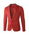 Bărbați În U Blazer Muncă Petrecere/Cocktail Plus Size Simplu(ă),Mată Manșon Lung Toamnă Iarnă-Albastru Roz Roșu Alb Negru Gri Bumbac