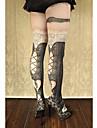 Strumpor/Strumpbyxor Gotisk Lolita Söt Lolita Klassisk/Traditionell Lolita Punk Lolita LolitaPrinsessa Genomskinlig Vintage-inspirerad