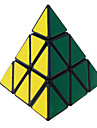 Leksaker Mjuk hastighetskub Pyraminx professionell nivå Magiska kuber Svart Blekna slät klistermärke Anti-pop justerbar fjäder ABS