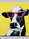 HANDMÅLAD Djur Pop olje~~POS=TRUNC,Moderna En panel Kanvas Hang målad oljemålning For Hem-dekoration