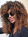 Femme Perruque Synthetique Sans bonnet Frises Afro Fonce Marron / Medium Auburn Avec Frange Perruque Naturelle Perruque Halloween