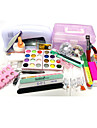 9W UV-lampa i förpackning spik kit nail art dekoration teckenstil nail art diy box