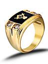 Bărbați Verighete La modă Pietrele Lunilor costum de bijuterii Teak Ștras Diamante Artificiale Bijuterii Pentru Nuntă Petrecere Zilnic
