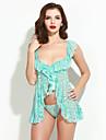 Feminin Babydoll & Slip Pijamale Nailon / Spandex Jacquard Albastru