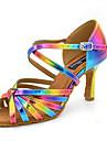 Chaussures de danse(Violet / Jaune) -Personnalisables-Talon Personnalise-Satin-Latines Jazz Salsa Chaussures de Swing
