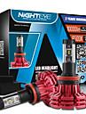 nighteye ip68 2pcs / set super lumineux 60w 10000lm h11 avec philips zes lampes LED de brouillard kit de phare ampoules LED blanche