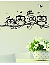 1Pcs   Cartoon Decals Wall Art DIY Children Sticker Kids Vinyl Art Cartoon Owl Butterfly Wall Sticker Decor Home Decal