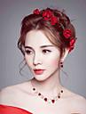 Femei Ștras Material Textil Diadema-Nuntă Ocazie specială Flori 1 Bucată