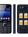 quad sim telephone portable quadri-bande 2,8 pouces 4 cartes SIM, Bluetooth, mp3, mp4.gprs, clavier (or / noir)