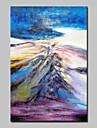 HANDMÅLAD Abstrakt Abstrakta landskap olje,Moderna Europeisk Stil En panel Kanvas Hang målad oljemålning For Hem-dekoration
