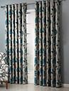 Deux Panneaux Le traitement de fenetre Rustique Chambre a coucher Polyester Materiel Rideaux Tentures Decoration d\'interieur For Fenetre