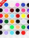 36st suga bort MiXs ren färg uv färg gel ljusterapi lim naglar qq barbie spik (8 ml)