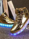 Garcon-Exterieure Decontracte Sport-Argent Or-Talon Plat-Light Up Chaussures-Baskets-Synthetique