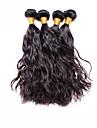 Human Hår vävar Brasilianskt hår Naturligt vågigt 4 delar hår väver