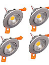 4st z®zdm 6W 400-500lm stöd dimbara cob ledde taklampor ledde receseed ljus (220V)