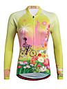 Miloto Maillot de Cyclisme Femme Manches longues Velo Chemise Shirt Maillot Hauts/TopsSechage rapide Permeabilite a l\'humidite Zip