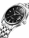 Bărbați Ceas La Modă Ceas de Mână Calendar Quartz Oțel inoxidabil Bandă Cool Casual Argint