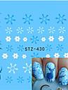 1pcs Autocollant d\'art de clou Autocollants de transfert de l\'eau Maquillage cosmetique Nail Art Design