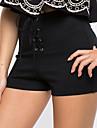 Dame Zvelt Pantaloni Scurți Pantaloni Sexy Simplu Solid Casul/Zilnic Club Talie Inaltă Cordon Polyester Micro-elastic Primavara vară
