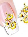 1 Autocollant d\'art de clou Autocollants de transfert de l\'eau Autocollants 3D pour ongles Maquillage cosmetique Nail Art Design