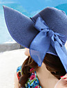 femei de vară pălărie de paie pliabilă borduri largi Bowknot pălării de soare