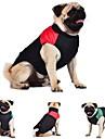 Katter Hundar Kappor Väst Röd Grön Blå Hundkläder Vinter Färgblock Håller värmen