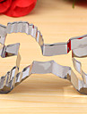 unicorn form cookie cutter, l 8.4cm XW 5,7cm xh 2cm, rostfritt stål