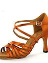 Latin Jazz Salsa Swing-Pantofi de dans(Maro) -Personalizabili-Damă