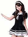 Costumes de Cosplay Etudiant/Uniforme d\'ecolier Fete / Celebration Deguisement d\'Halloween Noir Couleur Pleine Carnaval FemininCoton