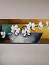 Pictat manual Natură moartă Floral/Botanic Orizontal,Modern Stil European Un Panou Hang-pictate pictură în ulei For Pagina de decorare