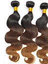 Human Hår vävar Peruanskt hår Naturligt vågigt 3 delar hår väver