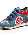 Femme Oxfords Confort Nouveaute Chaussures brodees Toile Printemps Ete Automne Hiver Athletique Decontracte MarcheConfort Nouveaute