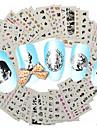 1set 48design Autocollant d\'art de clou Autocollants de transfert de l\'eau Maquillage cosmetique Nail Art Design