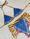 Femei Bikini Femei Cu Susținere Monocolor Floral Geometrică Polyester