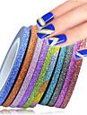 1set 12rolls Nail Art-klistermärken Folie Strippning Tejp makeup Kosmetisk Nail Art-design