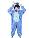Kigurumi Pijamale Anime Leotard/Onesie Festival/Sărbătoare Sleepwear Pentru Animale Halloween Albastru Rose Peteci Coral Fleece Costume