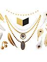 #(1) - Series bijoux - Dore - Motif - #(23x15) - Tatouages Autocollants Homme/Girl/Adulte/Adolescent